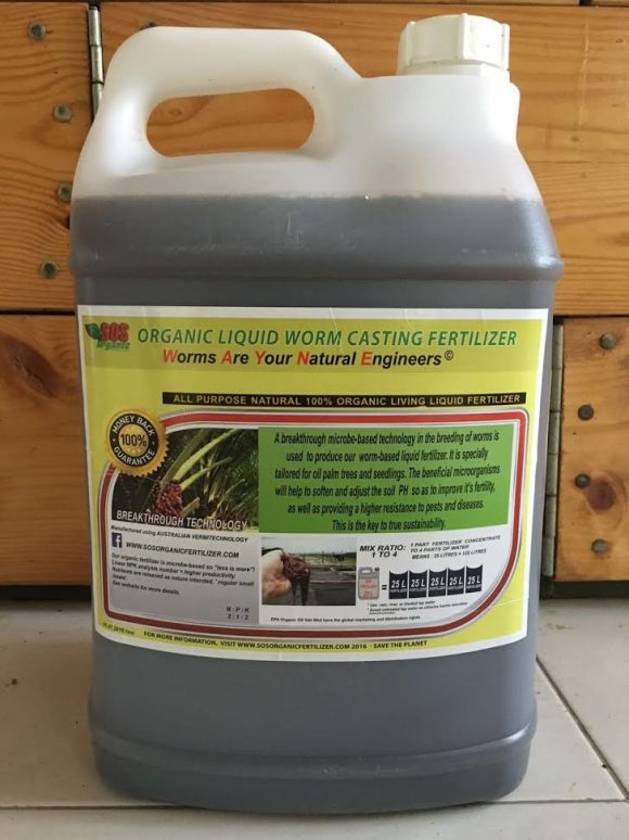 SOS Organic liquid fertilizer wholesale front