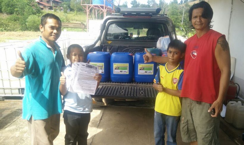 Organic Fertilizer Pickup from Papar Distribution Center , Sabah