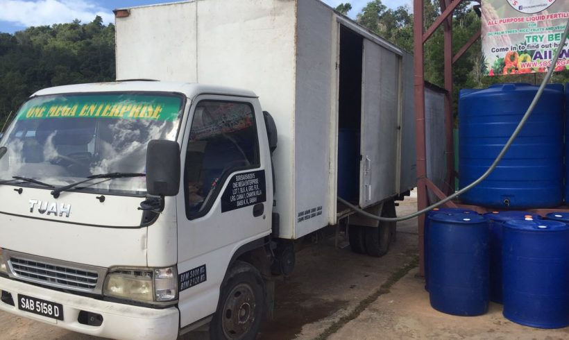 Organic Fertilizer Pickup, Papar distribution center 24 January 2017