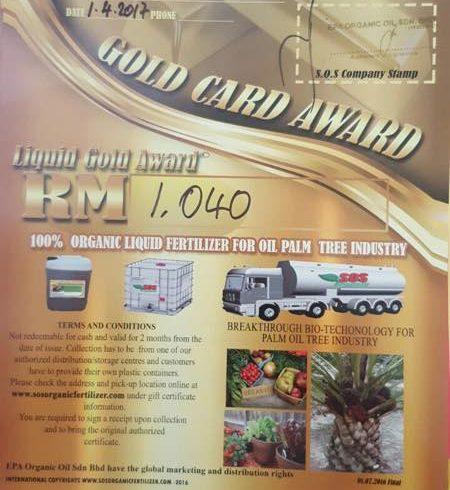 SOS organic liquid fertilizer papar farm giveaway